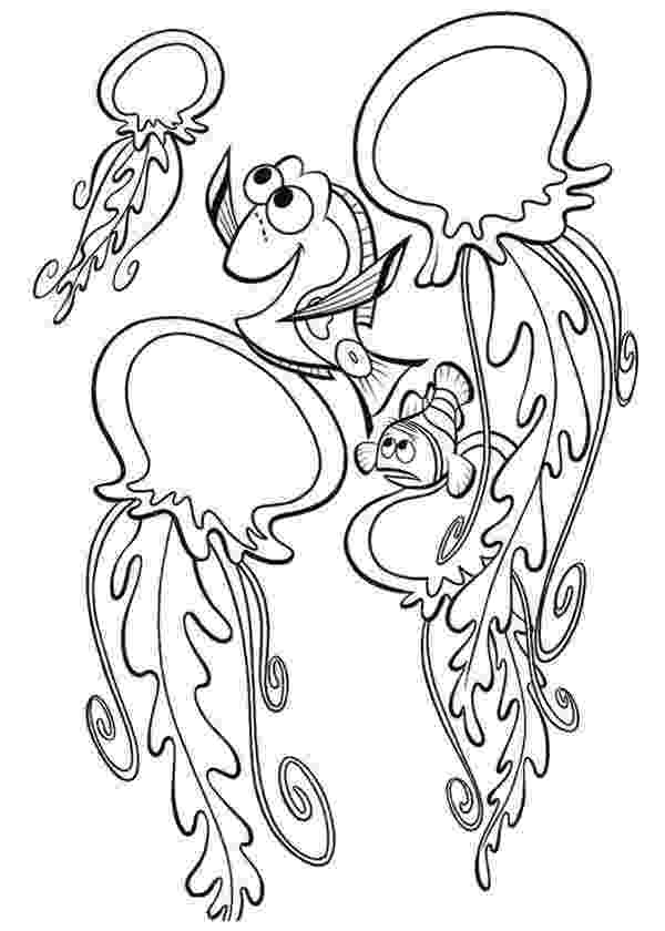 nemo and friends coloring pages nemo and friends talking to jellyfish coloring page nemo and coloring friends nemo pages