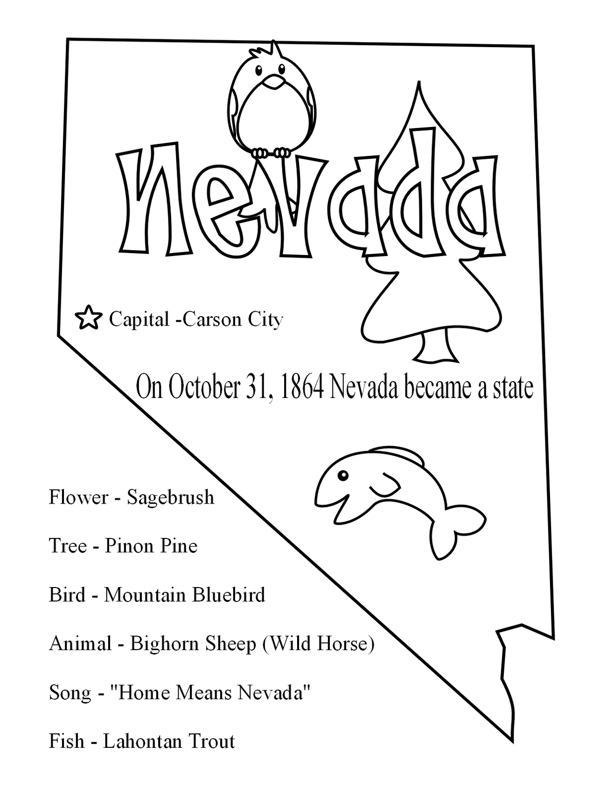 nevada state flower 50 state flowers coloring pages for kids nevada state flower