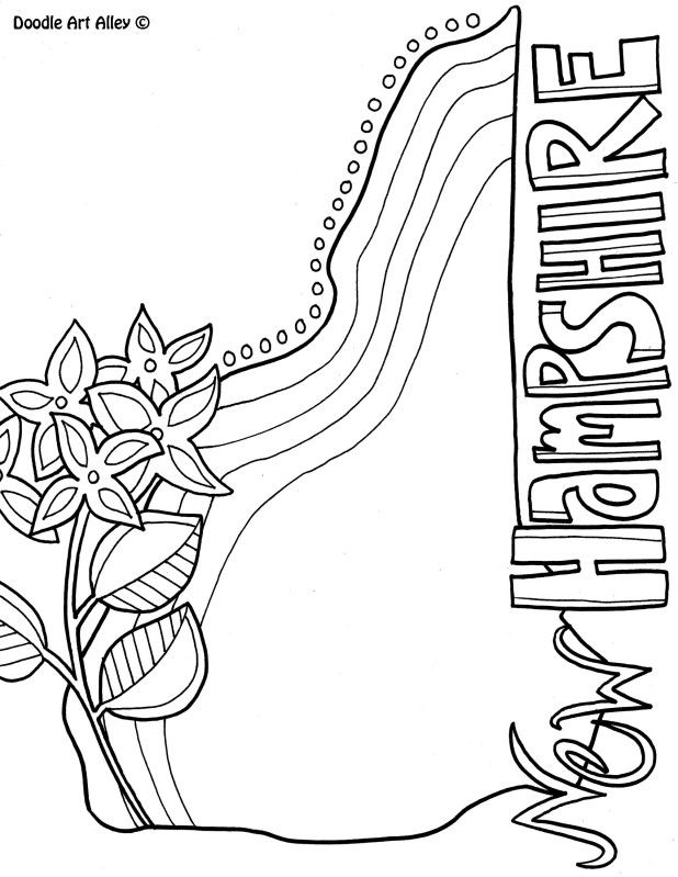 new hampshire coloring pages new hampshire state flower coloring page free printable coloring pages hampshire new