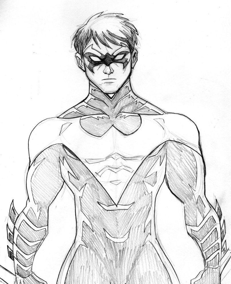 nightwing coloring pages young justice nightwing coloring page free printable nightwing coloring pages