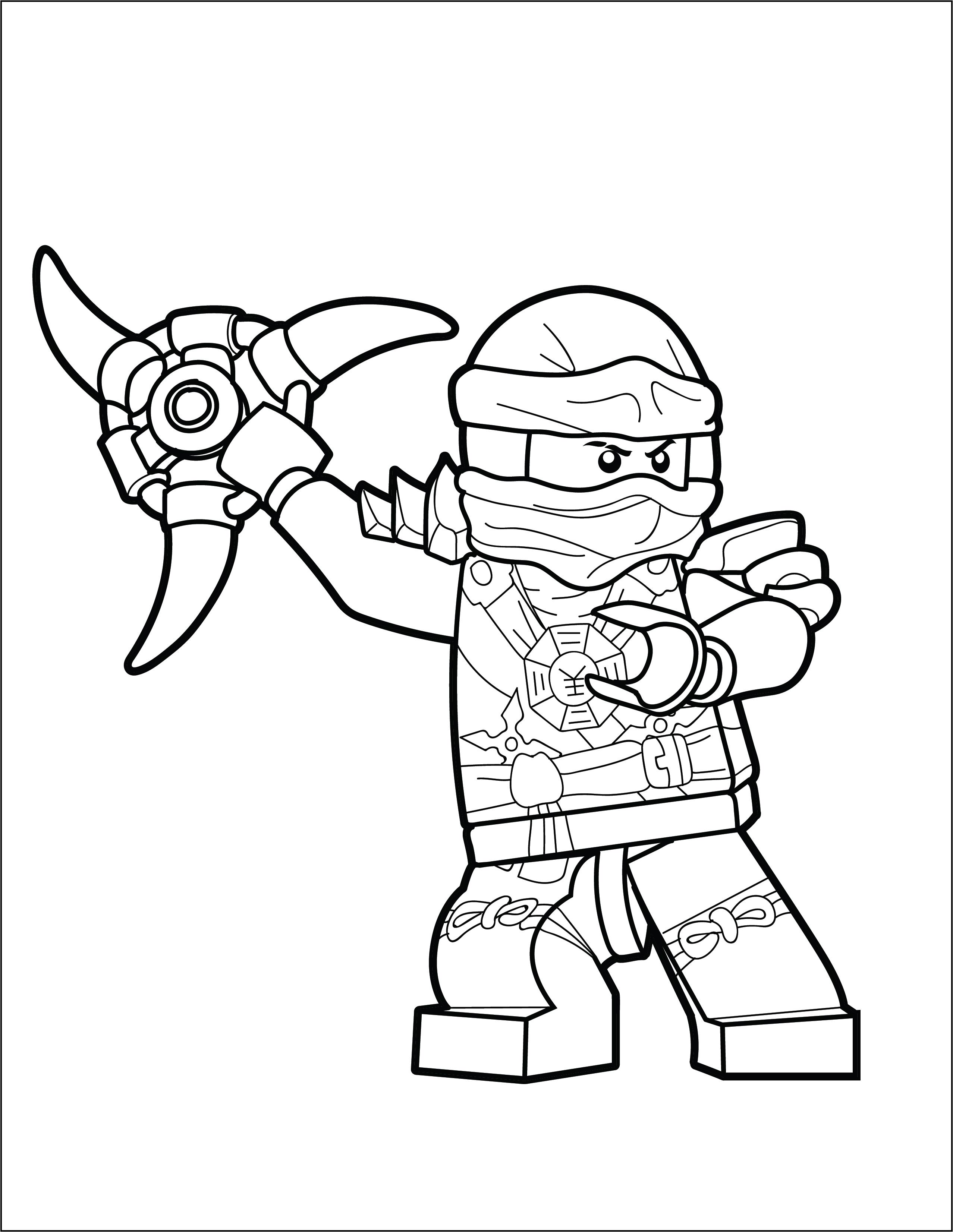 ninjago color point brick colorin pages lego ninjago titanium zane color ninjago