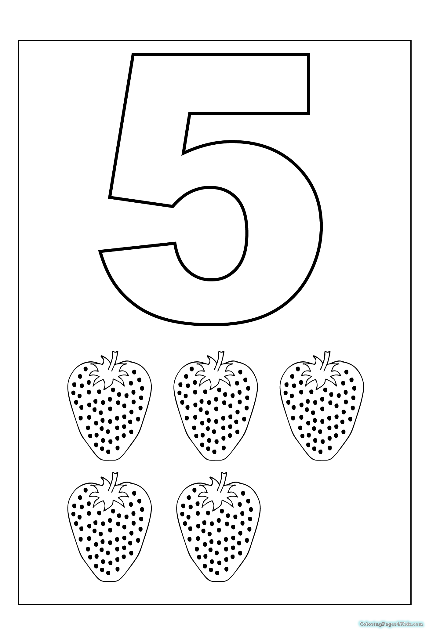 number 5 coloring sheet number 5 coloring page coloring pages for kids sheet coloring number 5