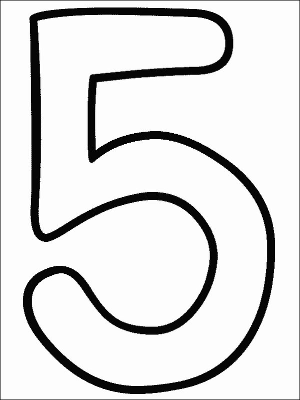 number 5 coloring sheet number 5 coloring page getcoloringpagescom 5 number sheet coloring