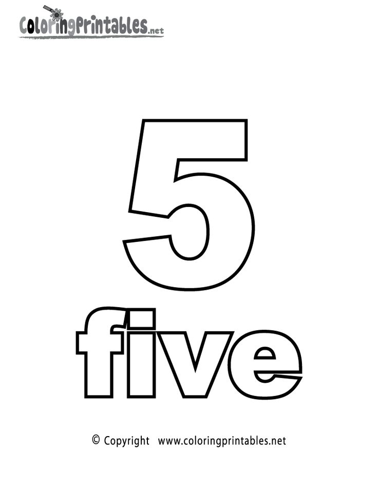 number 5 coloring sheet numbers 5 coloring page number 5 sheet coloring