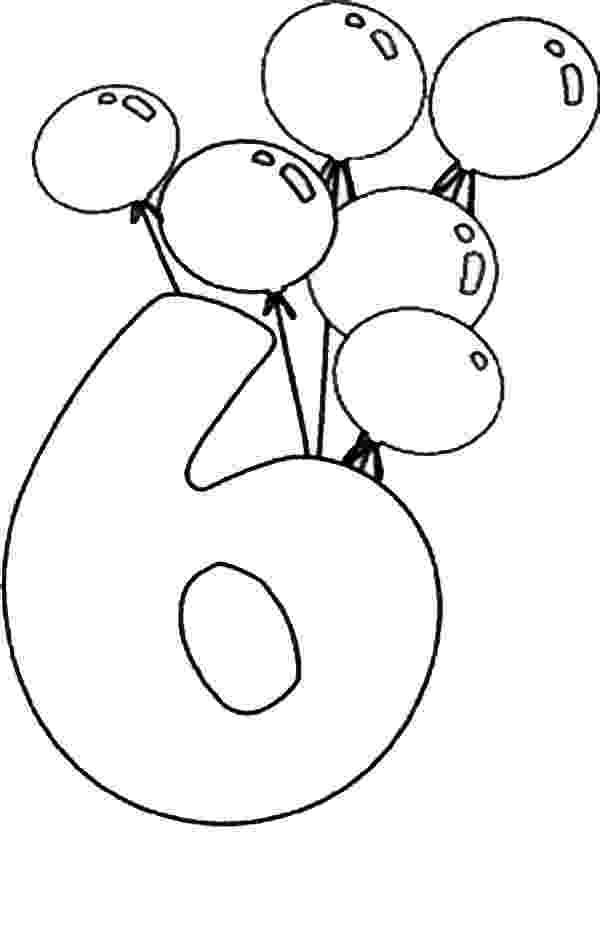 number 6 coloring pages the learning site 6 coloring pages number