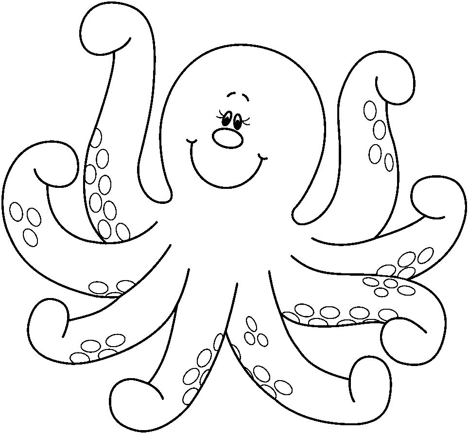 octopus color page cute octopus and fish coloring pages to kids color page octopus