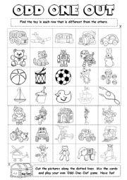 odd one out printable english exercises odd one out one odd printable out