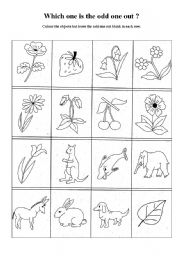 odd one out printable english worksheets odd one out 36 odd printable out one