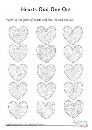 odd one out printable more valentine39s day puzzles odd printable one out