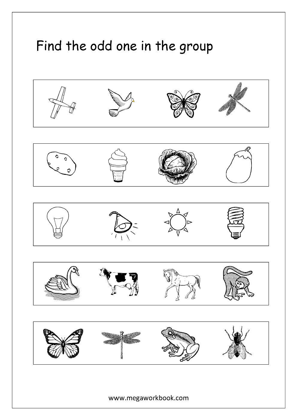 odd one out printable odd one out 56 esl worksheet by gabitza one out odd printable