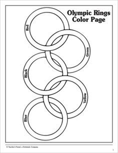olympic rings to color olympic flag colouring page color to olympic rings