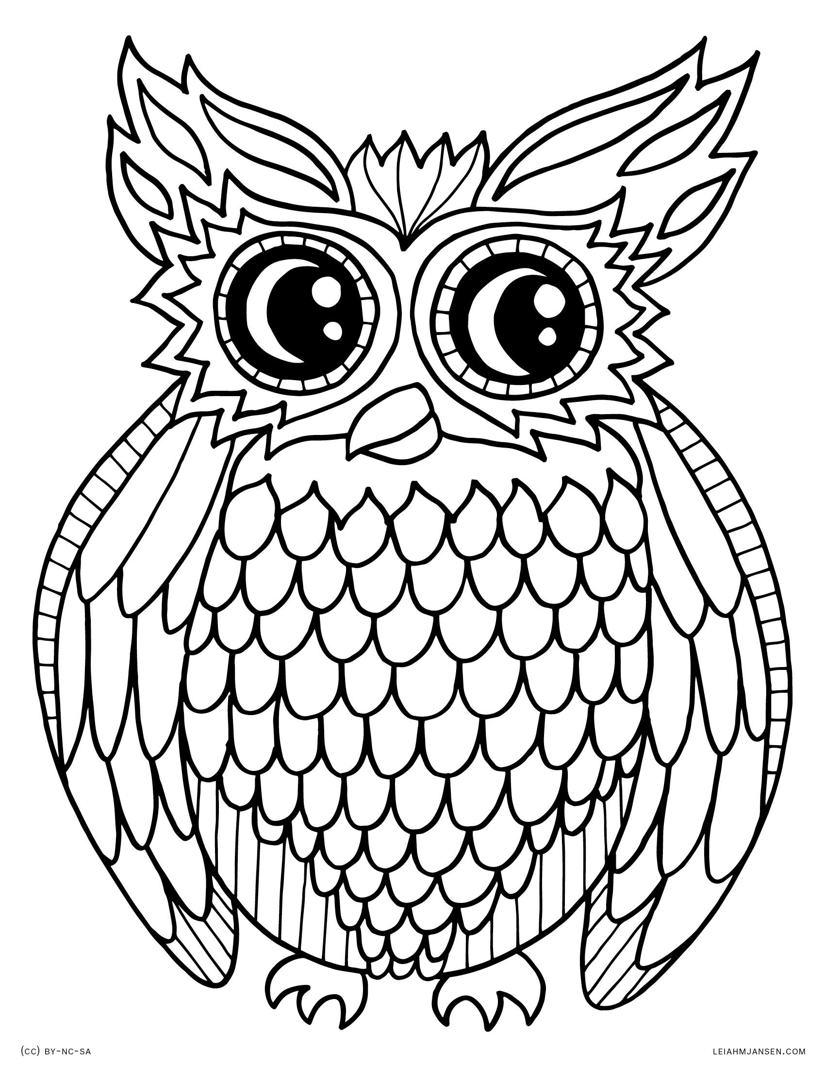 owl coloring page coloring pages owl coloring page