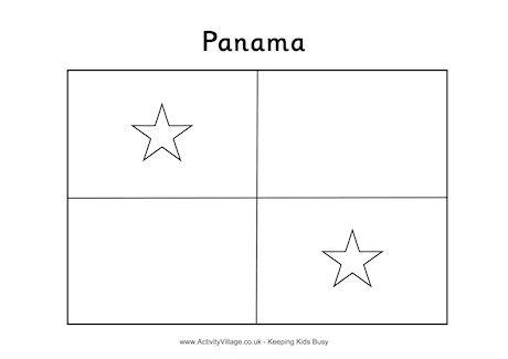 panama flag coloring page panama flag colouring page flag panama coloring page