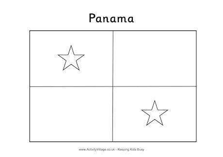 panama flag coloring page panama flag colouring page flag panama coloring page