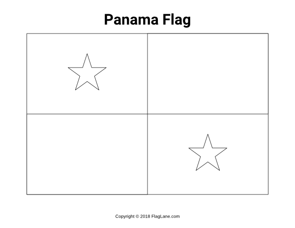 panama flag coloring page pin by muse printables on flags flag images and coloring panama page coloring flag