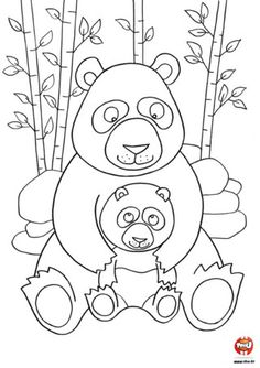 panda pictures that you can print mothers day coloring page of momma and baby panda bears print that can you pictures panda