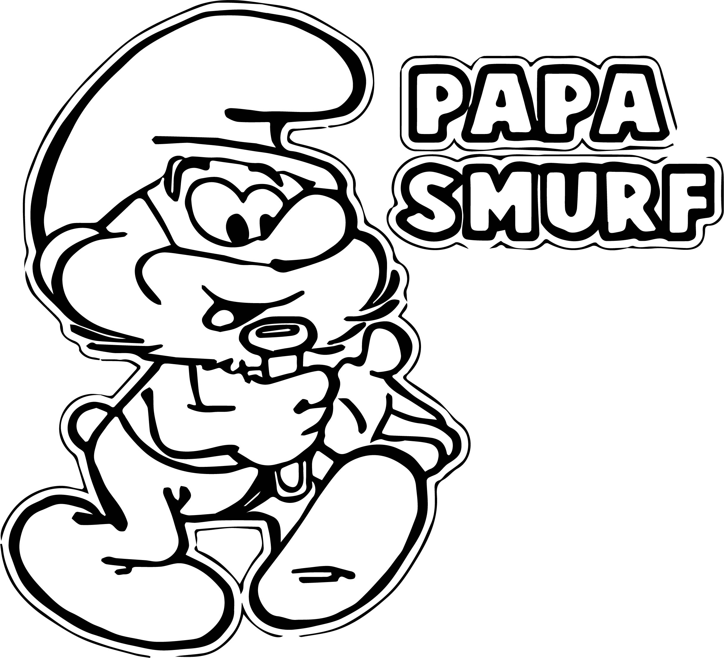 papa smurf coloring pages papa smurf coloring pages download and print for free smurf papa coloring pages