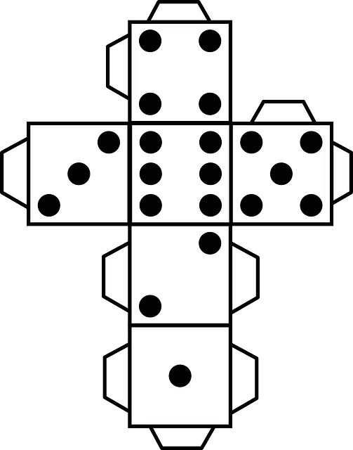 paper dice dice template model of a white cube stock vector illustration of cutout number paper dice