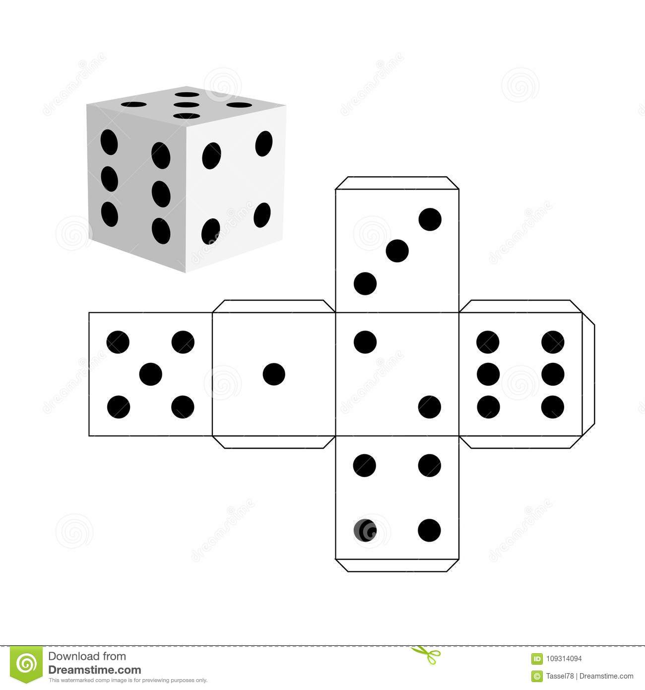 paper dice neuroscience resources for kids dice paper