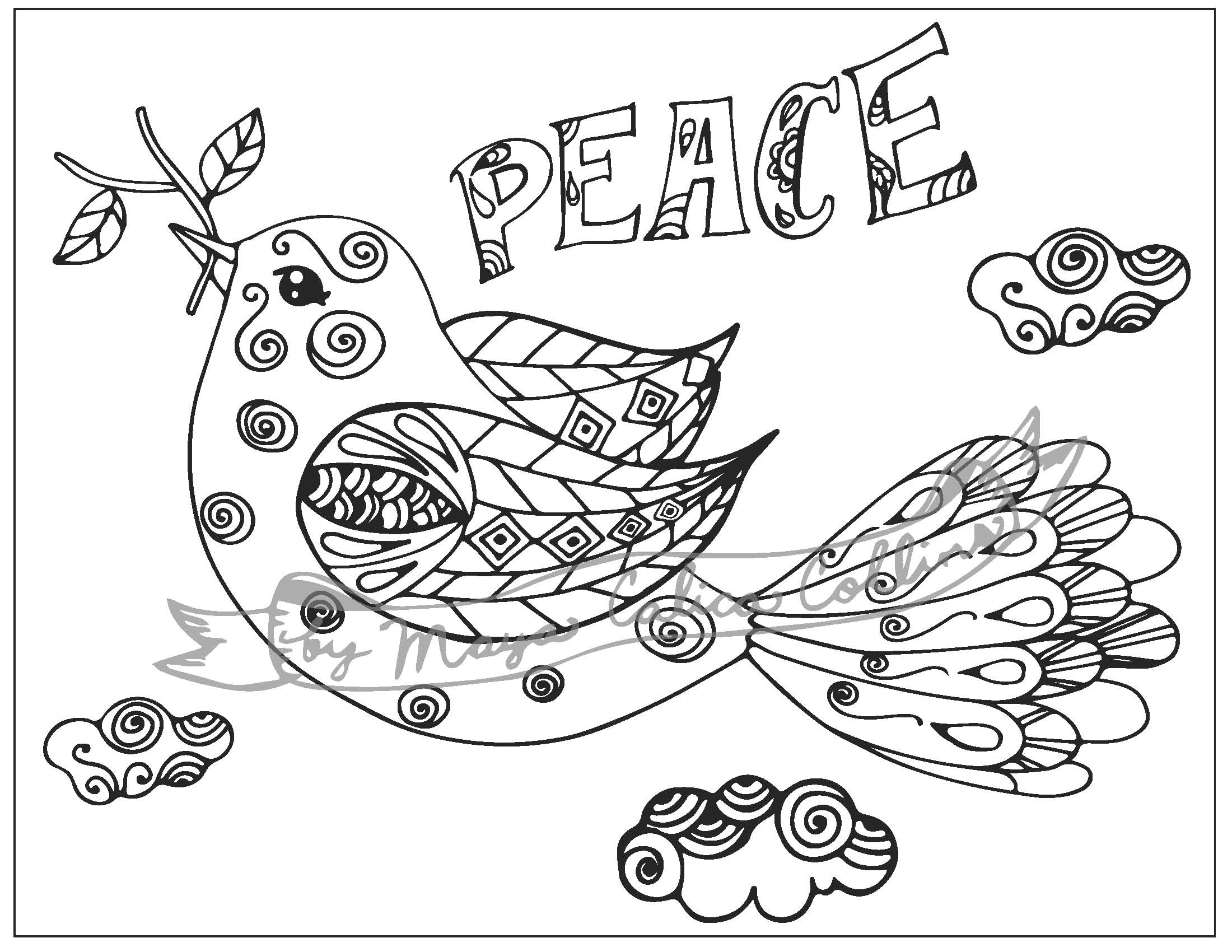 peace dove coloring page zentangle dove of peace coloring page free printable dove peace coloring page