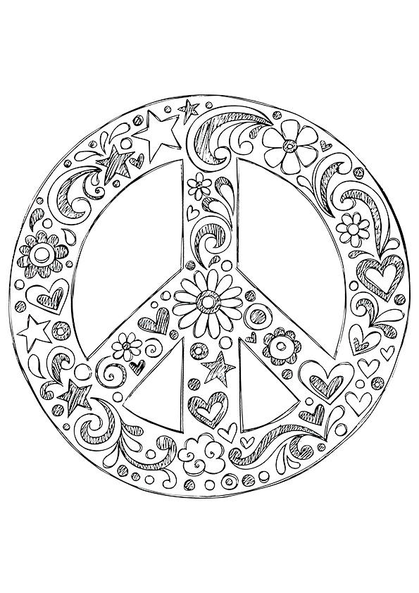 peace sign coloring page free printable peace sign coloring pages cool2bkids sign peace page coloring