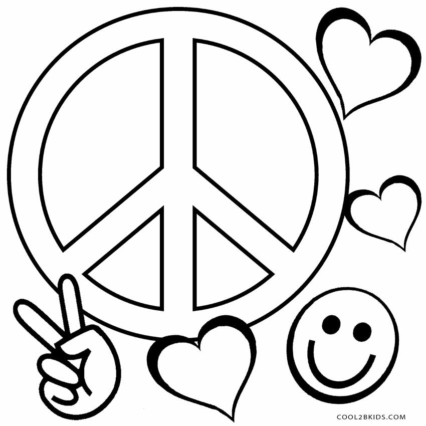 peace sign coloring page peace sign coloring pages getcoloringpagescom peace sign coloring page