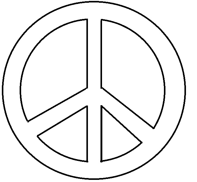 peace sign coloring page peace sign coloring pages getcoloringpagescom peace sign coloring page 1 1