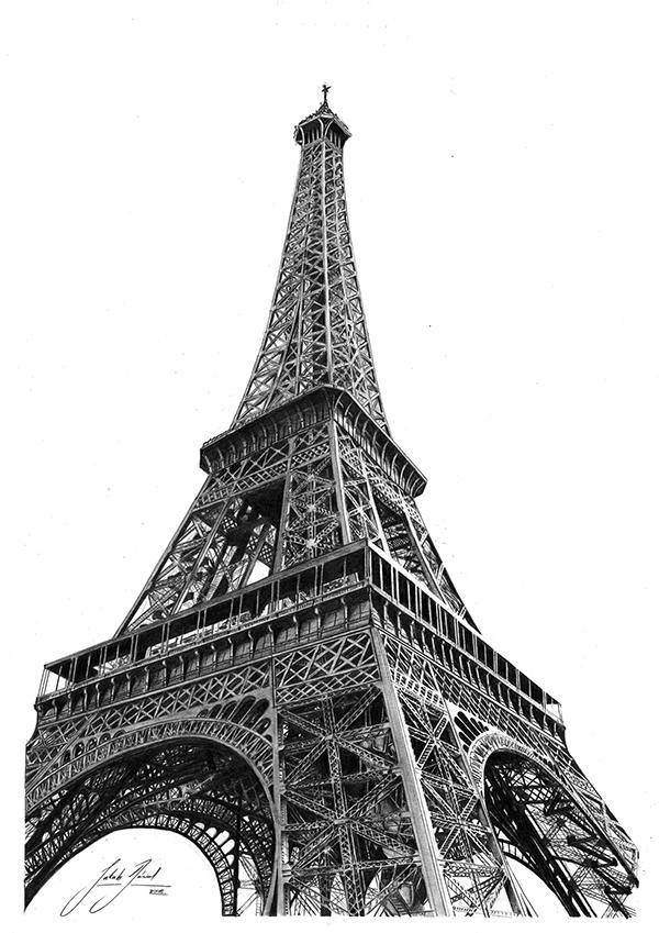 pencil sketch of eiffel tower 40 most beautiful and detailed eiffel tower drawings of sketch pencil eiffel tower