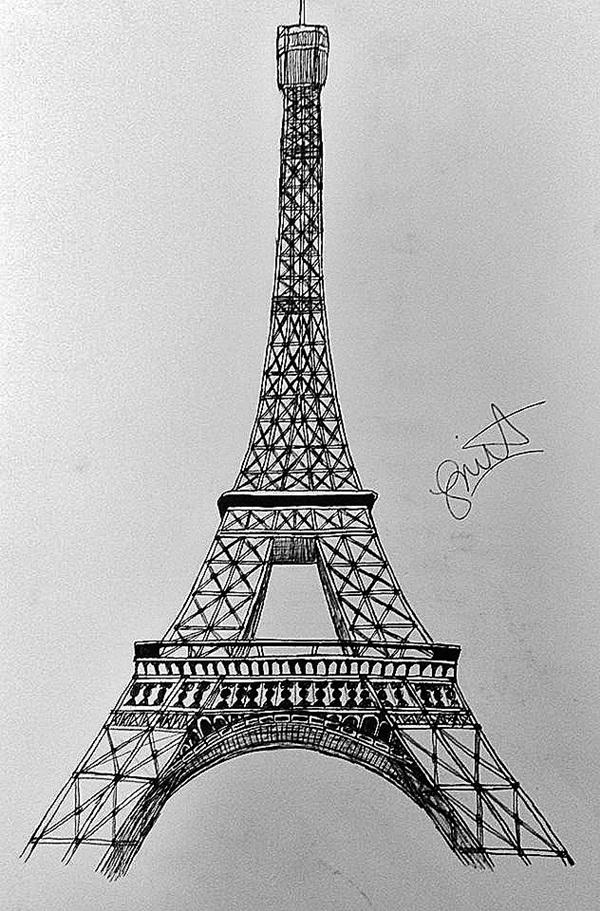 pencil sketch of eiffel tower 70 easy and beautiful eiffel tower drawing and sketches sketch of tower eiffel pencil