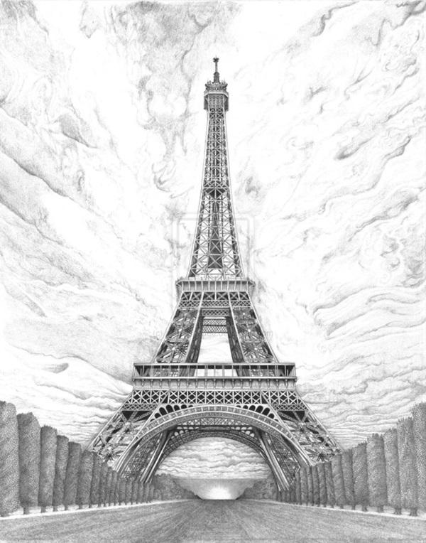 pencil sketch of eiffel tower daleo drivel with pictures tower pencil sketch eiffel of
