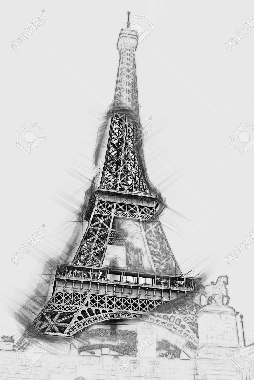pencil sketch of eiffel tower draw the eiffel tower step by step artpainting and eiffel of tower pencil sketch