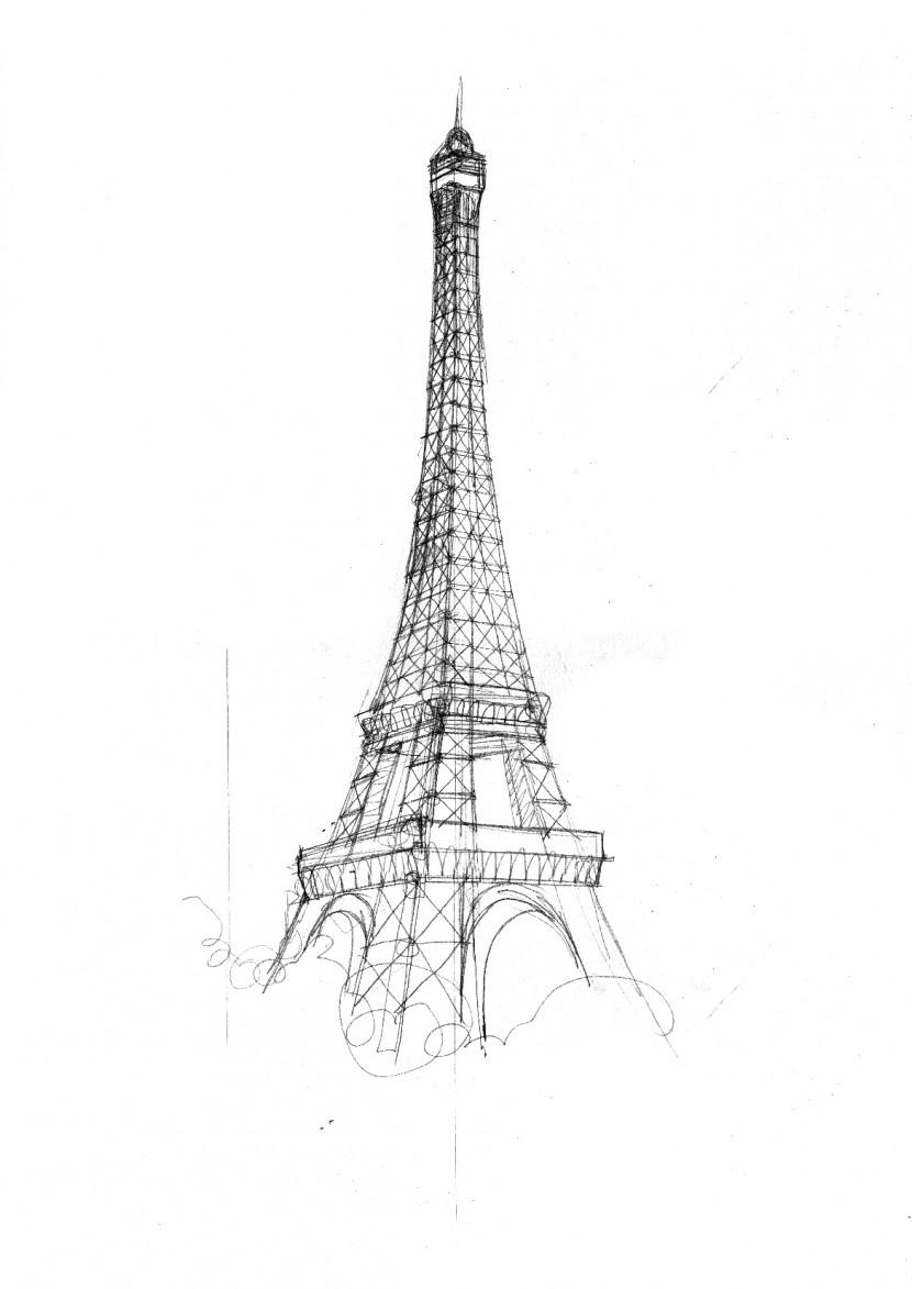pencil sketch of eiffel tower eiffel tower paris sketch by 878952 on deviantart tower sketch of pencil eiffel
