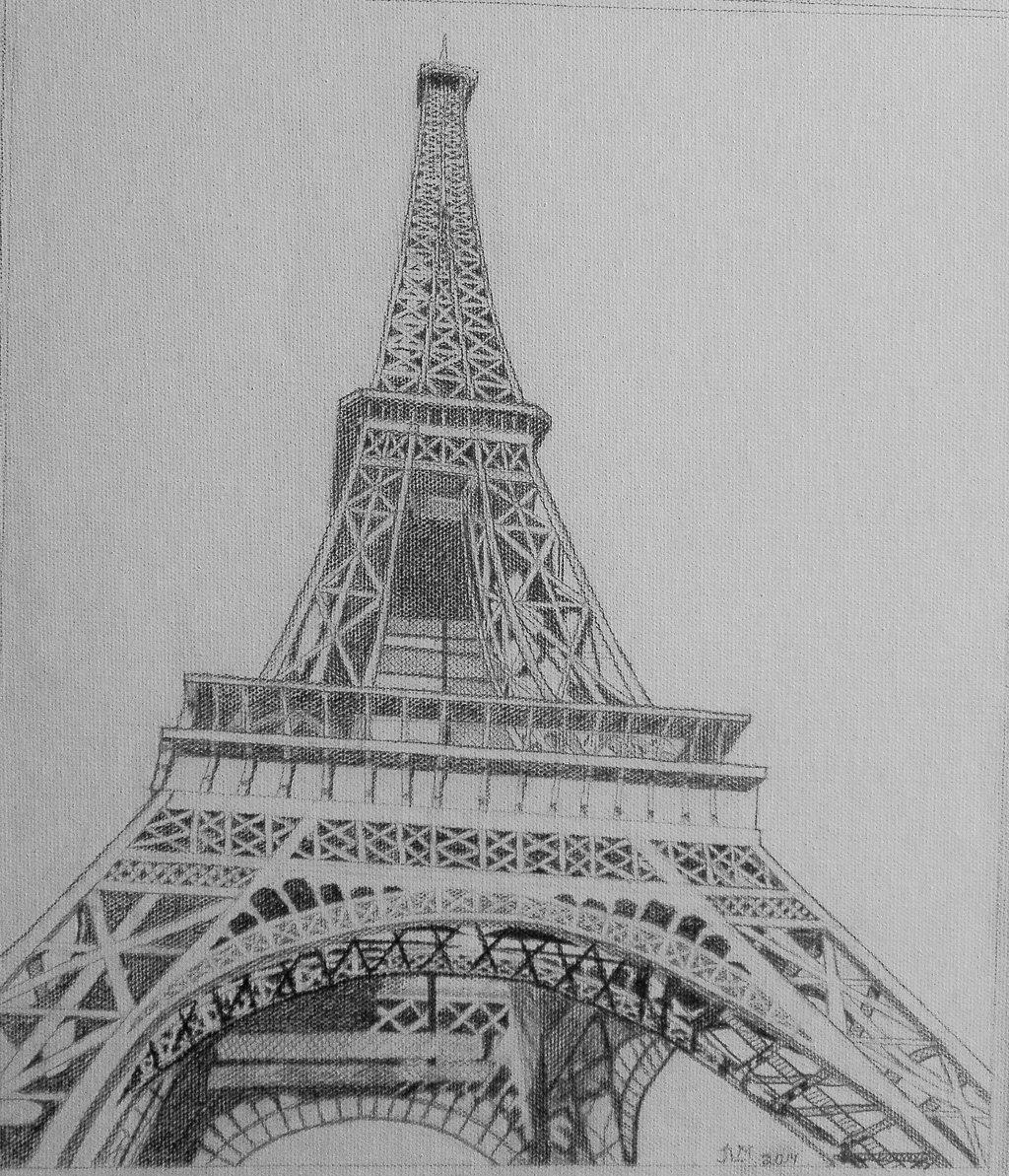pencil sketch of eiffel tower eiffel tower weirdpuckett foundmyself tower of sketch eiffel pencil