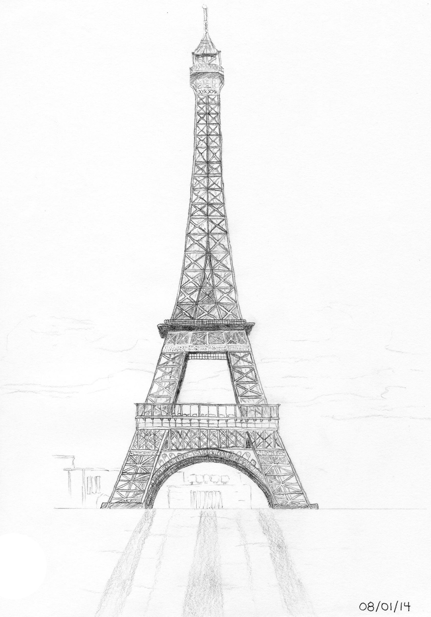pencil sketch of eiffel tower global skyline illustrated maps of tower eiffel sketch pencil