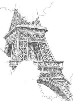 pencil sketch of eiffel tower learning to draw sketch eiffel tower of pencil
