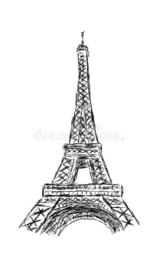 pencil sketch of eiffel tower the eiffel tower stock vector illustration of monument tower eiffel sketch of pencil