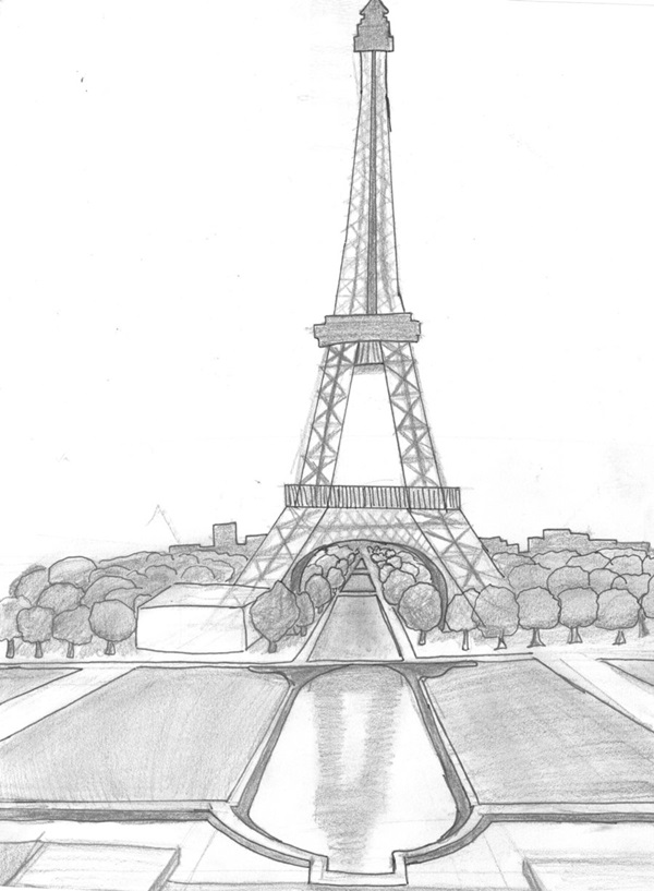 pencil sketch of eiffel tower tower paintings search result at paintingvalleycom sketch tower of eiffel pencil