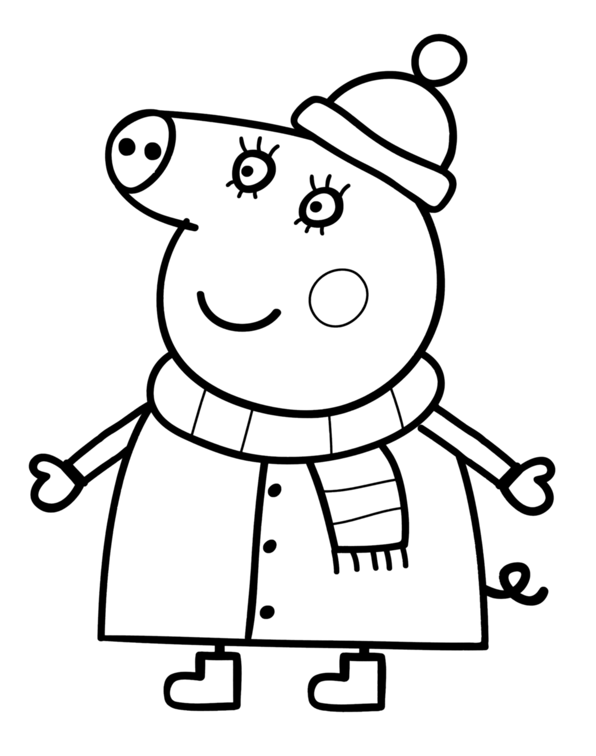 peppa pig colouring pictures to print bovenste deel kleurplaat peppa pig online krijg pictures print peppa to pig colouring