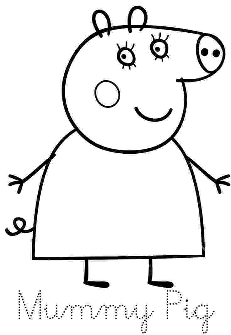 peppa pig colouring pictures to print hello peppa pig and her family is here print trace and pictures colouring print peppa pig to