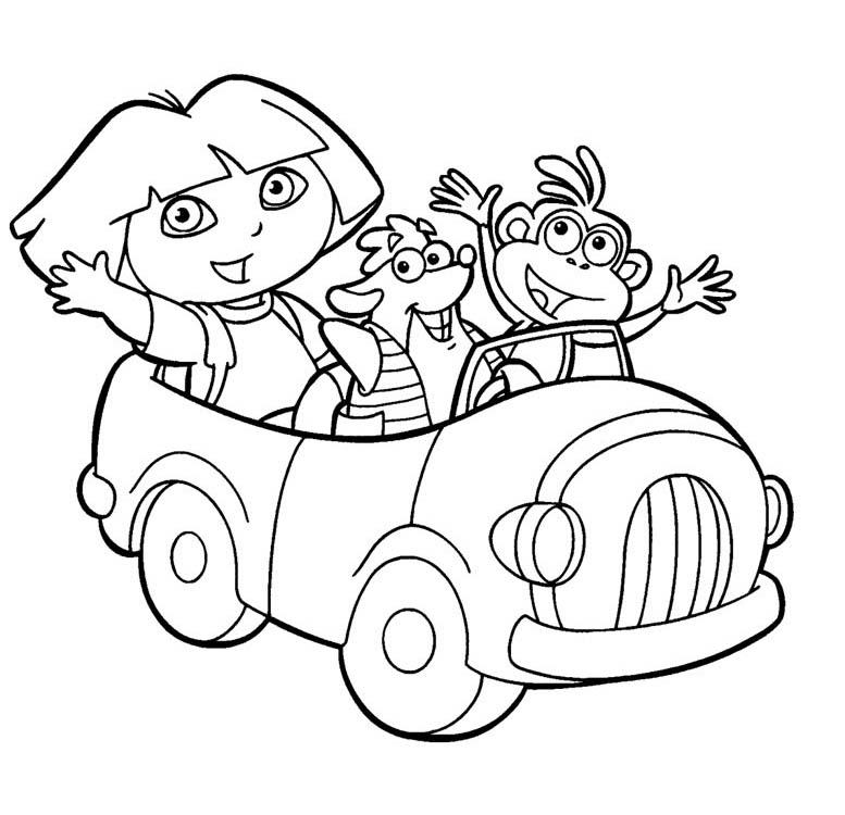 pics of dora cartoons coloring pages dora the explorer coloring pages dora of pics