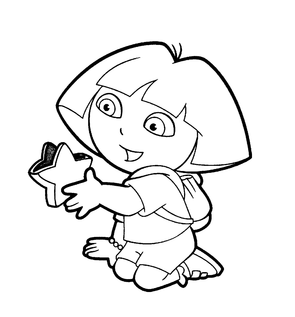 pics of dora free printable dora coloring pages for kids cool2bkids of pics dora