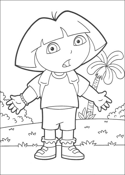 pics of dora free printable dora coloring pages for kids cool2bkids pics of dora