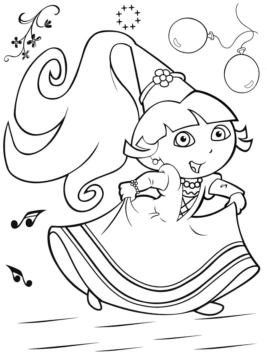 pics of dora princess dora coloring pages at getcoloringscom free dora pics of