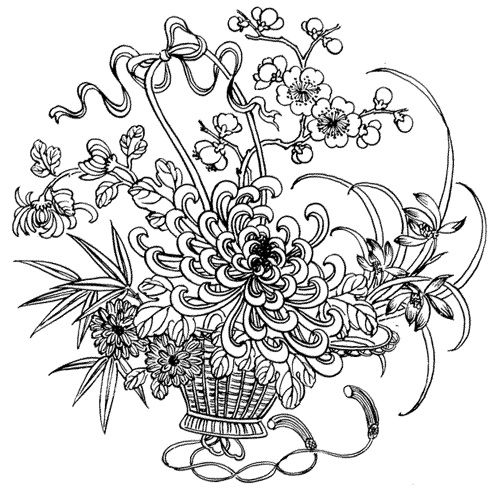 pics of flowers to color flowers coloring pages coloringpages1001com of color flowers to pics