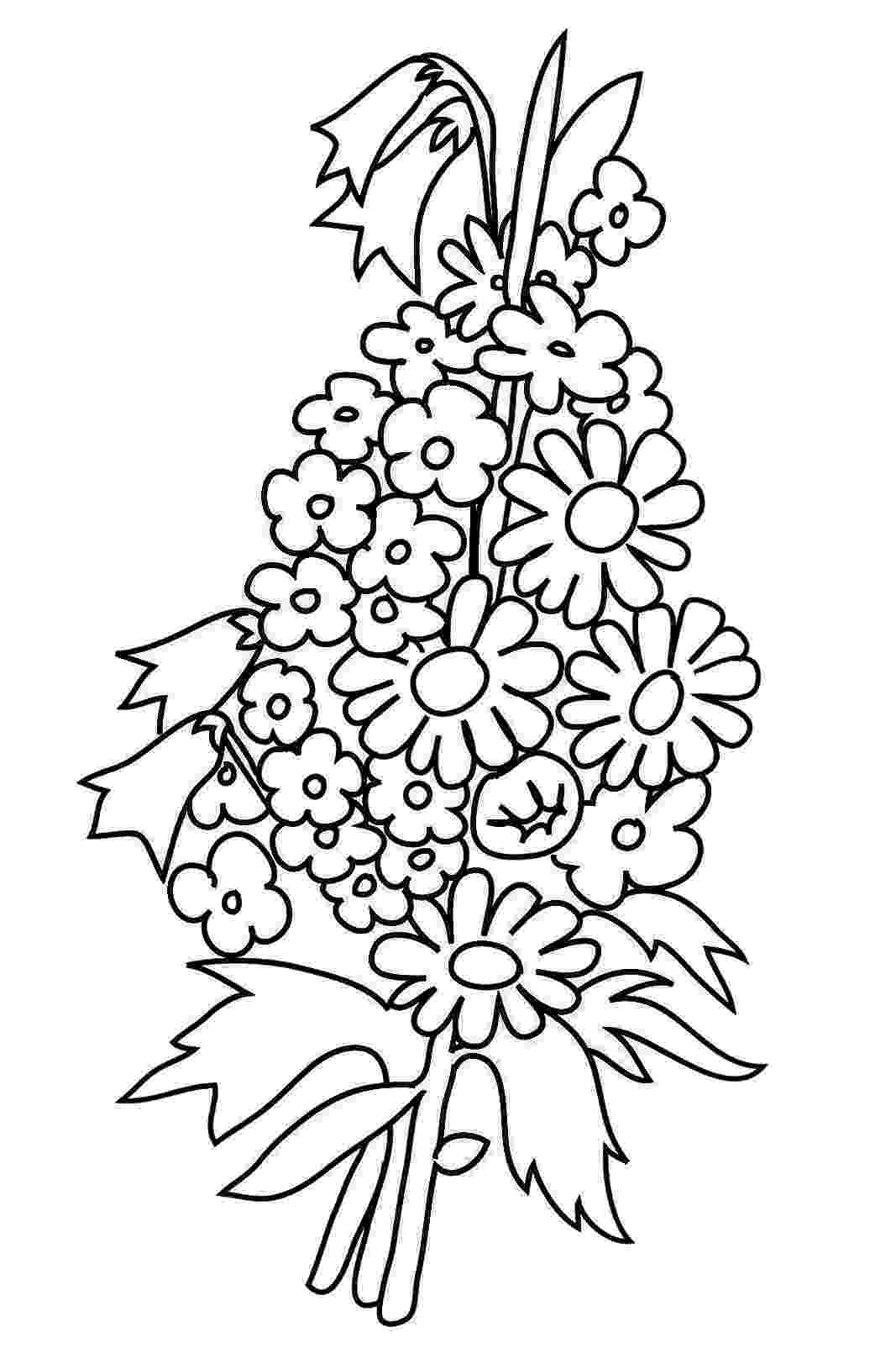 pics of flowers to color free printable flower coloring pages for kids cool2bkids flowers to pics of color