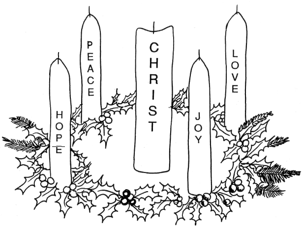 picture of advent wreath for coloring 30 free christmas wreath coloring pages printable for advent wreath of picture coloring