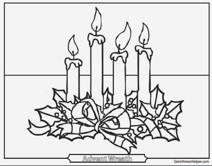 picture of advent wreath for coloring advent wreath coloring sheet sketch coloring page advent of picture for coloring wreath