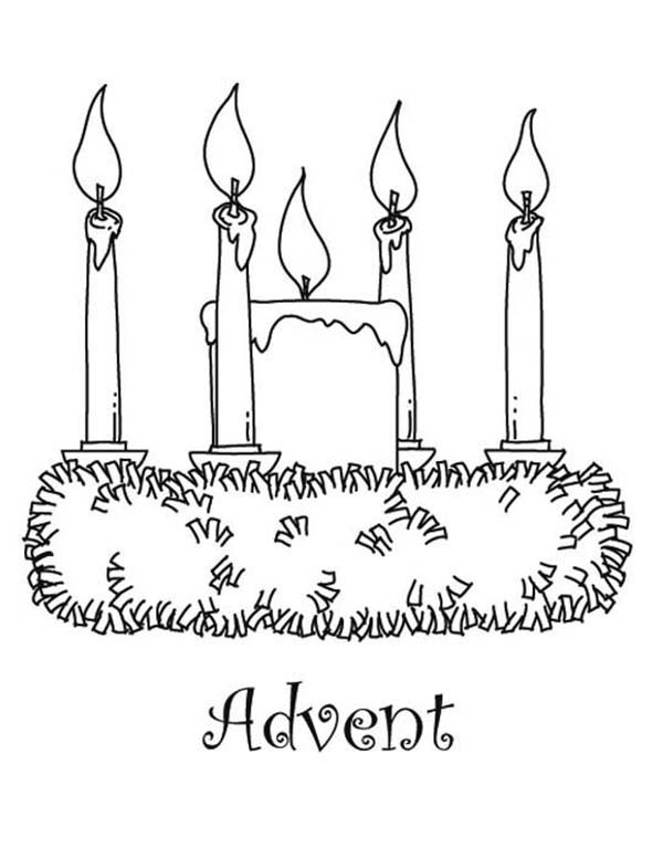 picture of advent wreath for coloring advent wreath printable coloring pages sketch coloring page of advent picture wreath coloring for