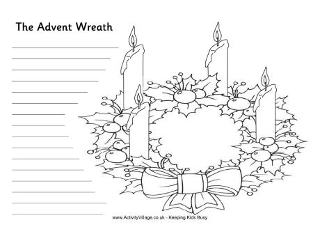 picture of advent wreath for coloring christmas 910 ginormasource kids wreath advent for picture of coloring
