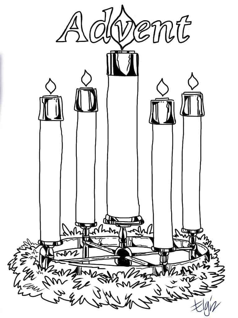 picture of advent wreath for coloring printable advent coloring pages sketch coloring page for of coloring wreath advent picture